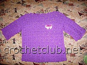 пуловер фиолетовое облачко 2