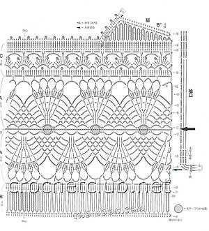вязаный жилет-схема 1