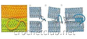 вязаный жилет-схема сшивания