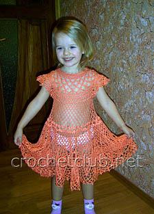 детское платье крючком 1