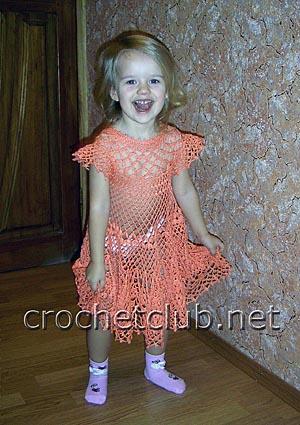 детское платье крючком 2