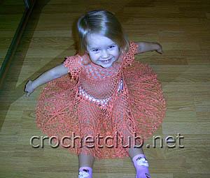 детское платье крючком 3