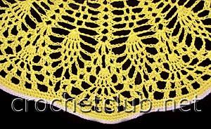 желтая шляпа крючком-фрагмент