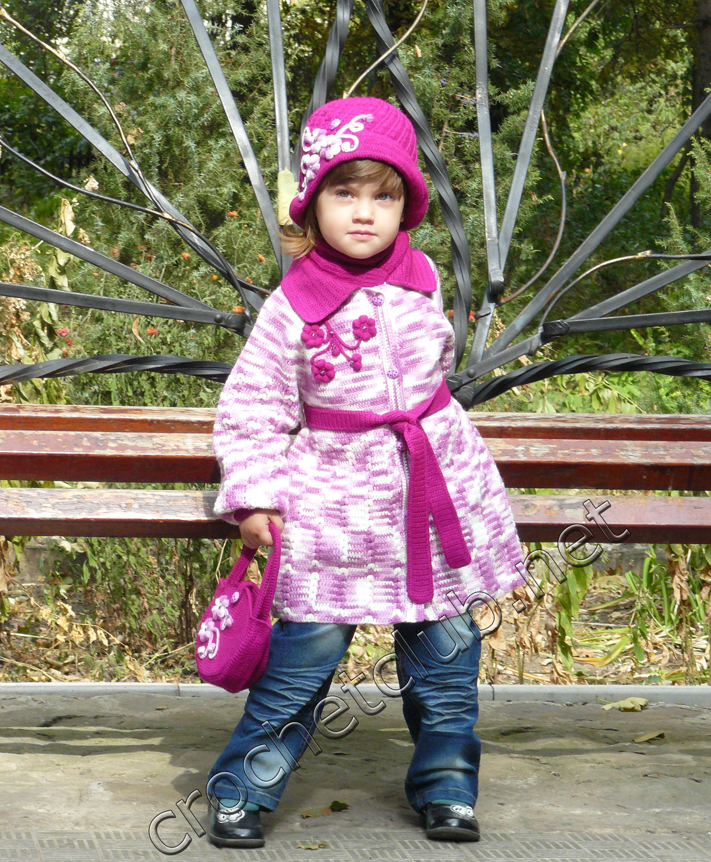 Вязание спицами пальто для девочки реглан