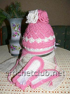 шапочка розовый иней