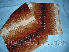 шарф коричневый меланж