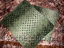 шарф серо-зеленый
