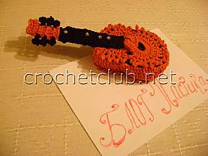 шкатулка-гитара крючком 2