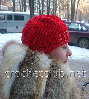легкая вязаная шапочка 1