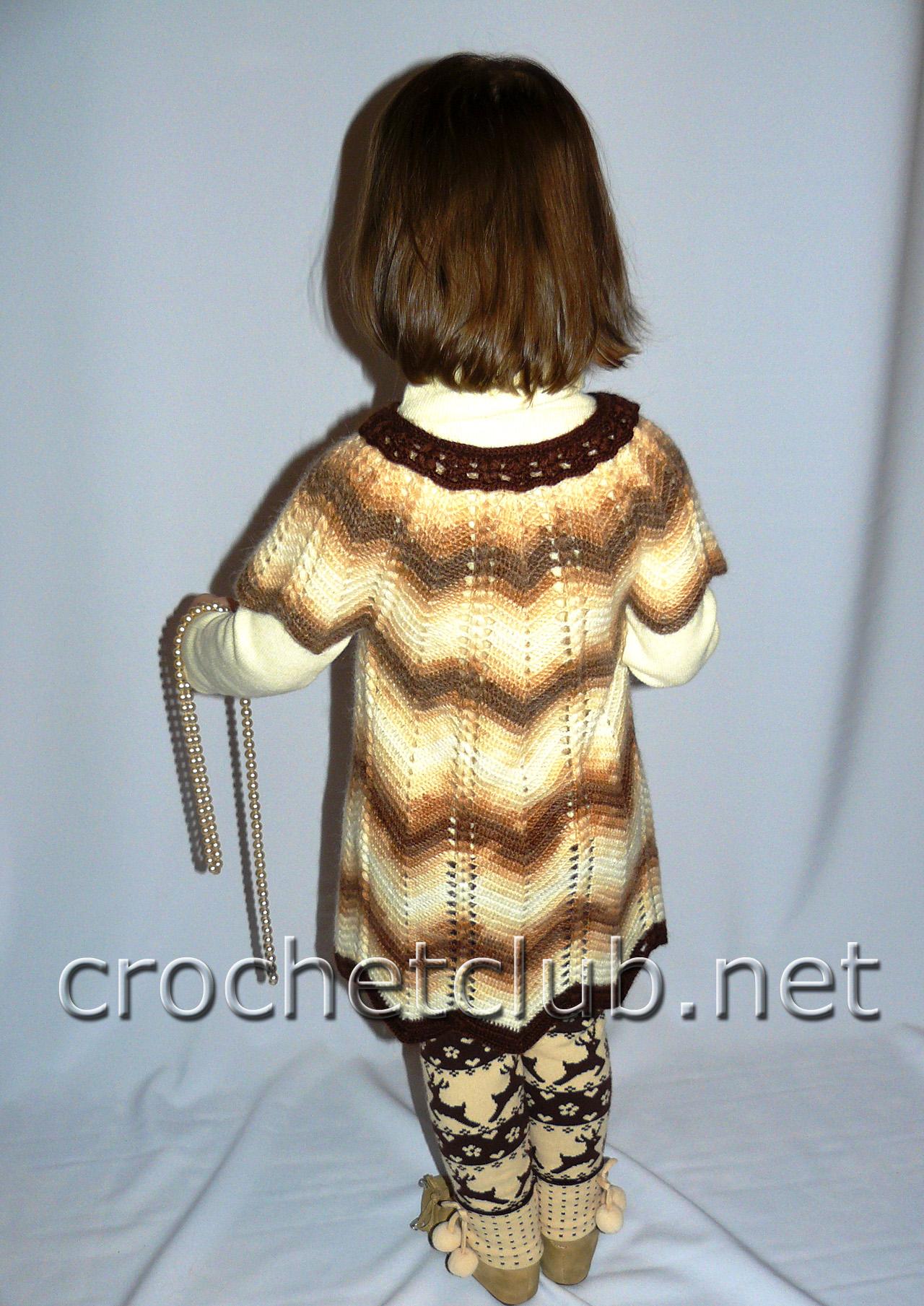схемы вязания туники для девочки 5 лет