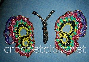 украшение для сумки бабочка 1