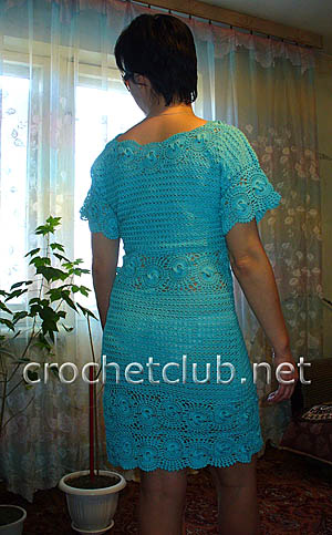 вязаное платье лагуна 1