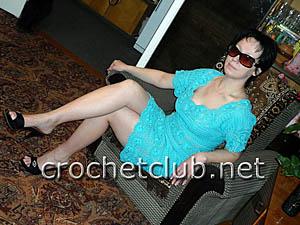 вязаное платье лагуна 2