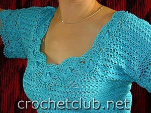 вязаное платье лагуна 3