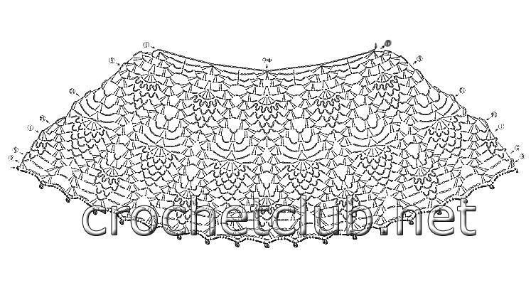 Платье крючком узором ананас схема фото 838