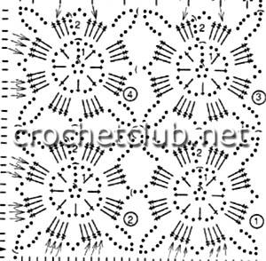 серый сарафан крючком-схема мотива