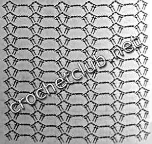 серый сарафан крючком-схема узора