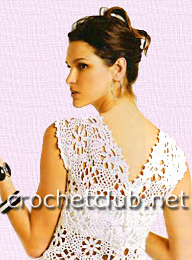 98bad3f9e16 Белая туника из мотивов - Вязание Крючком. Блог Настика