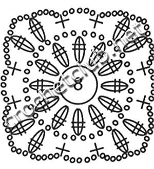 длинный вязаный сарафан-схема 2