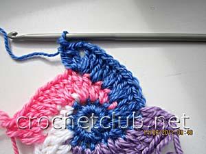 мастер-класс вязание спиральных квадратов 14