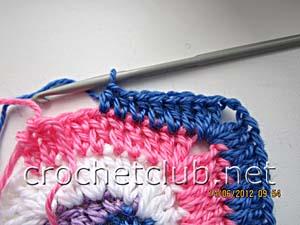 мастер-класс вязание спиральных квадратов 19