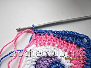 мастер-класс вязание спиральных квадратов 21
