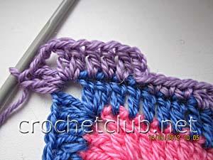 мастер-класс вязание спиральных квадратов 25