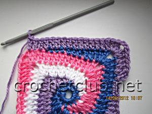 мастер-класс вязание спиральных квадратов 26