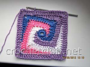 мастер-класс вязание спиральных квадратов 27