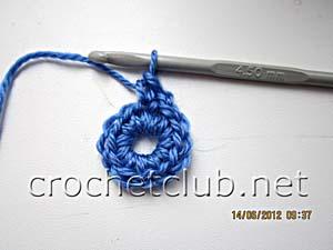 мастер-класс вязание спиральных квадратов 4