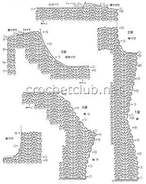 вязаный сарафан классика-схема кокетки