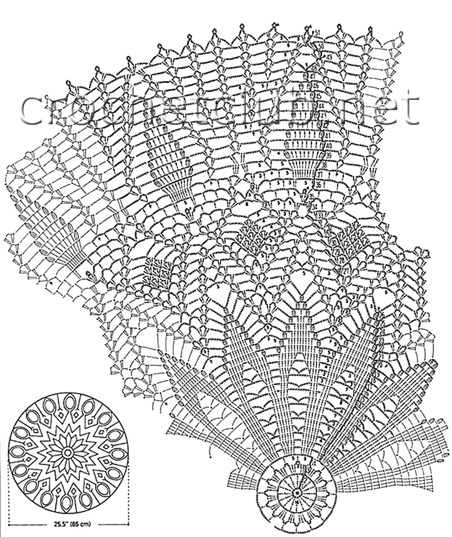 Схема крючком зонт