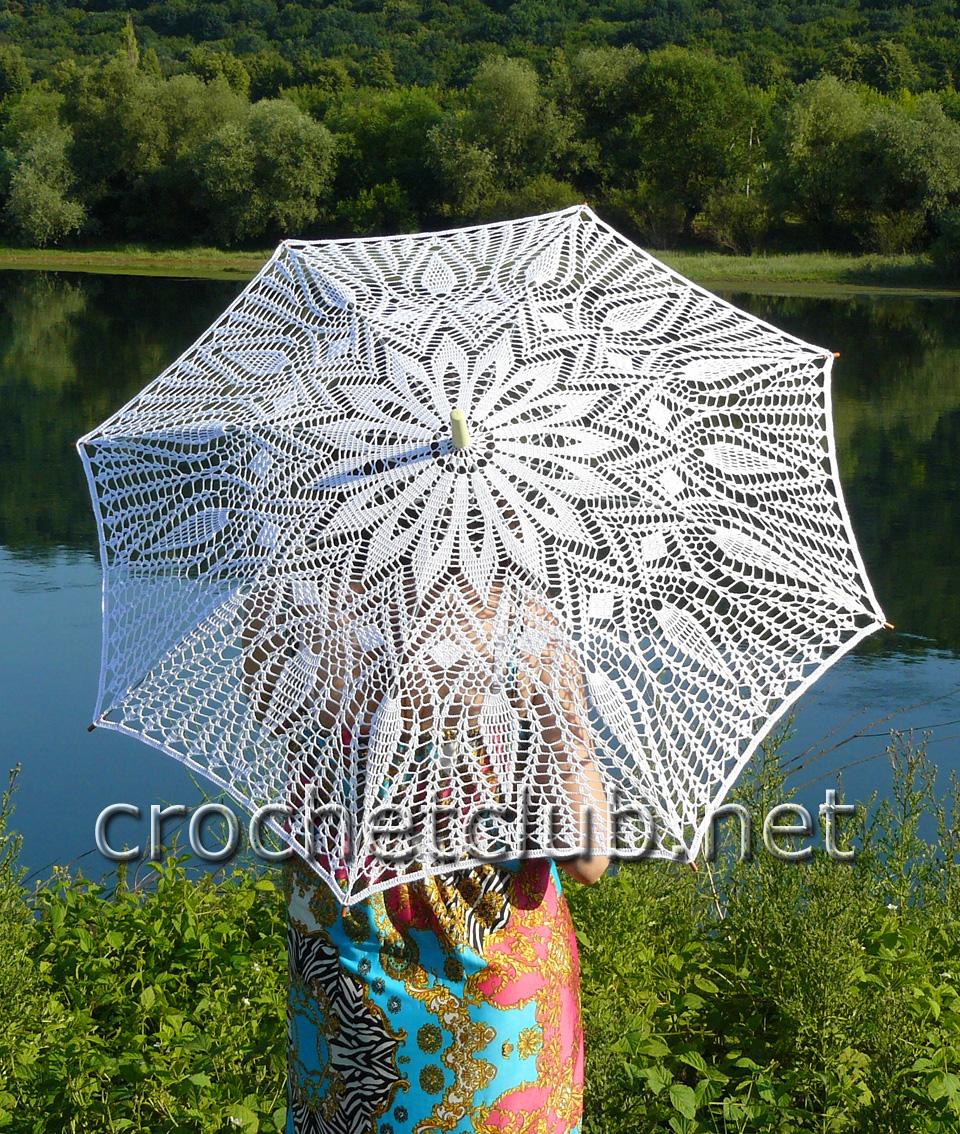 схемы вязания крючком зонты