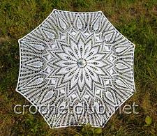 ажурный зонт крючком 1