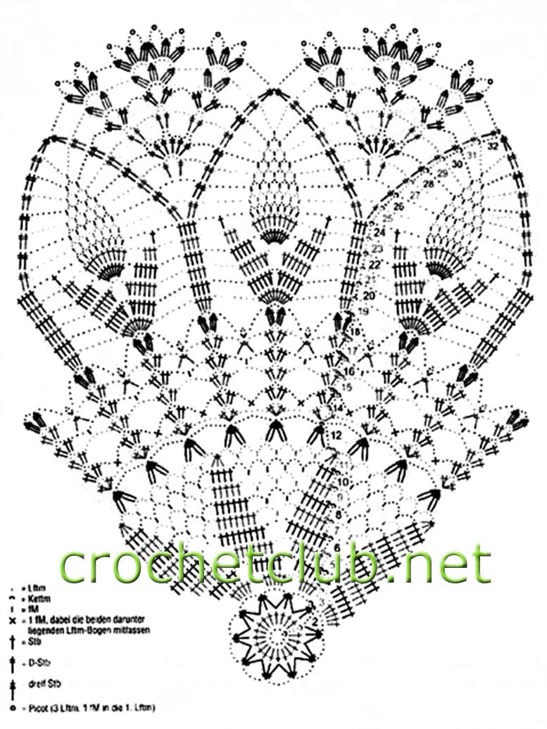кружевной зонт крючком-схема.