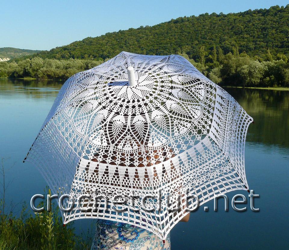 простая схема вязаного зонта