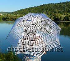 кружевной зонт крючком 1