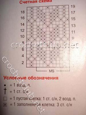 маечка с листочками-косичками-схема