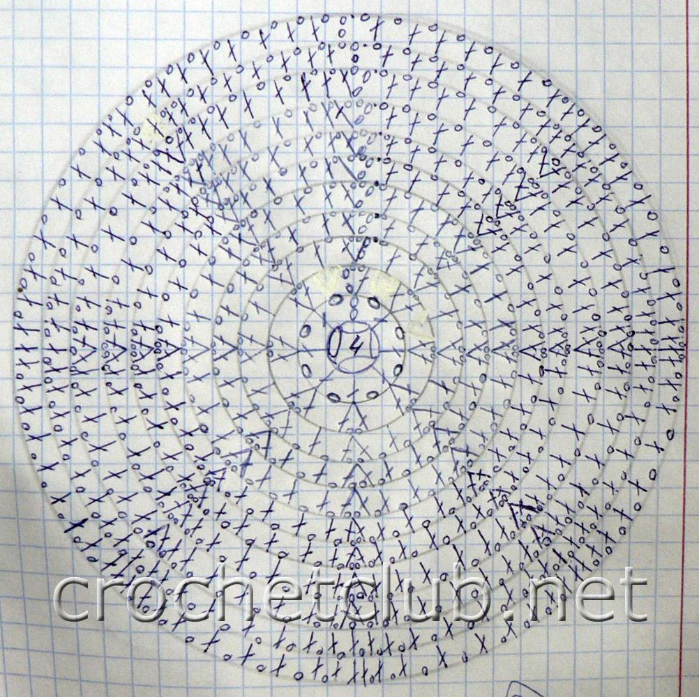 Шапочки вязаные крючком и схема 68