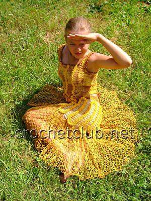 солнечный костюм крючком