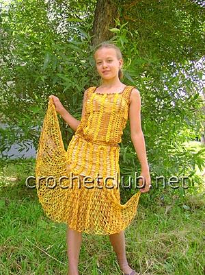 солнечный костюм крючком 1
