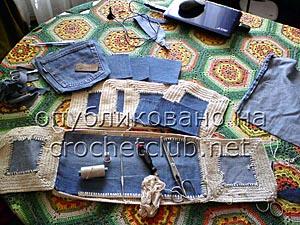 джинсы и вязание - сумка 1