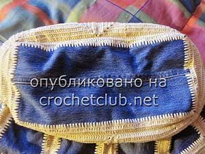 джинсы и вязание - сумка 10