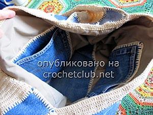 джинсы и вязание - сумка 11