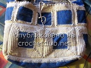 джинсы и вязание - сумка 12