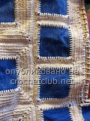 джинсы и вязание - сумка 3