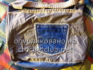 джинсы и вязание - сумка 7