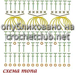 топ с узором брумстик-схема узора