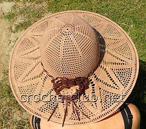 вязаная летняя шляпа 1