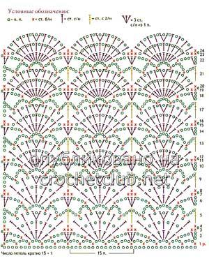 белый сарафан крючком-схема